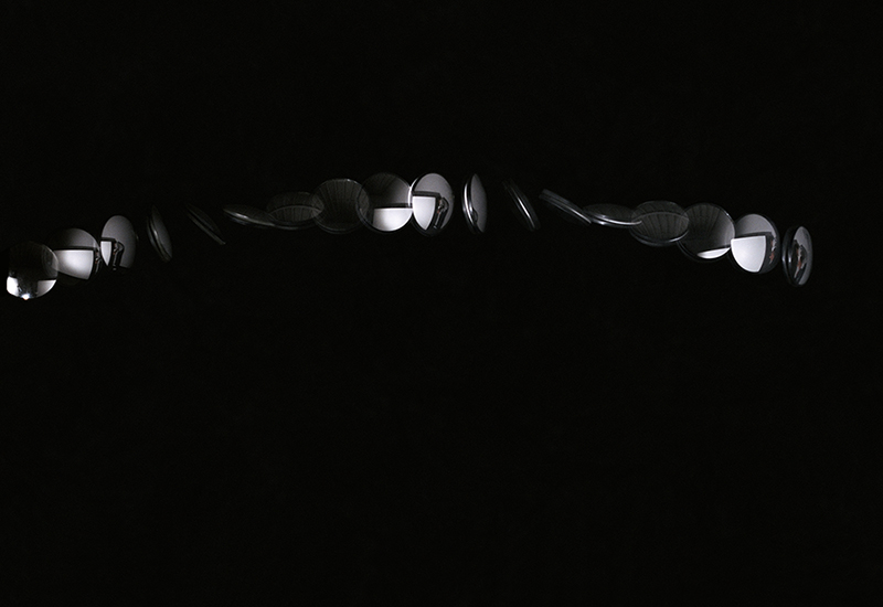 "Robert Arndt, Mirror Traversing Picture Plane, 2006, ink jet print, ink jet print, 34"" x 39"""