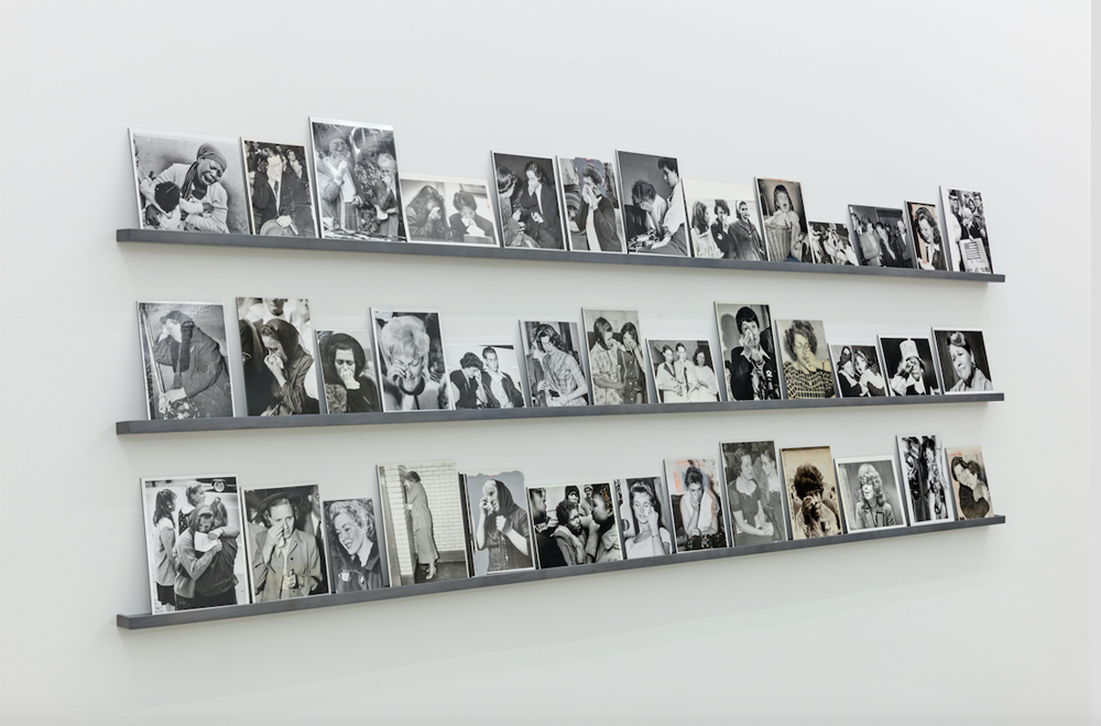 Jonah Samson, 39 Silver Gelatin Photographs mounted to dibond, 2017, custom built shelves, 9 feet long, vertical dimensions variable