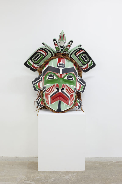 "Hamaniquala, 2012, 31""x30""x21"", cedar, paint bronze"