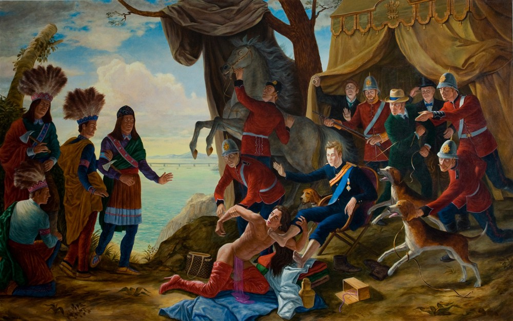 Kent Monkman, My Treaty is With the Crown, 2011, 60 x 96""