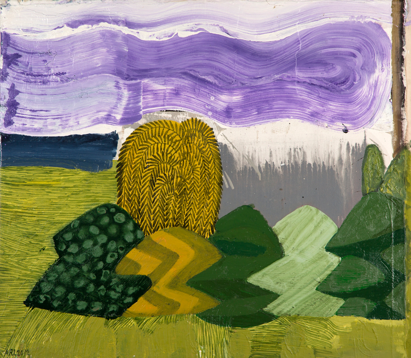 Attila Richard Lukacs, Topiary Garden #1, 2012, oil on canvas, 38 x 43.25""