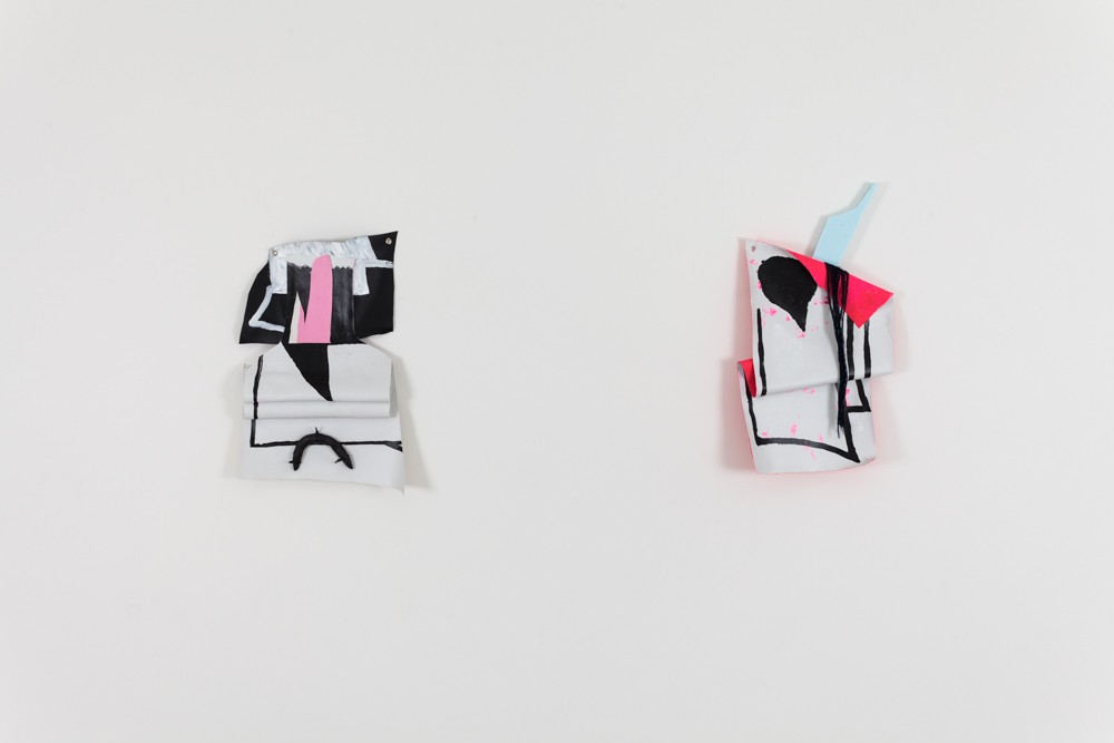 "(left) Cold as I, 2014 Mixed media 18x15"" (right) A Document, 2014 Mixed media 17x15"""