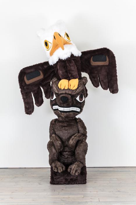 Plushy Souvenir, 2014, fun fur, stuffing, 8'h x 5'w edition of 3 (unique), AP