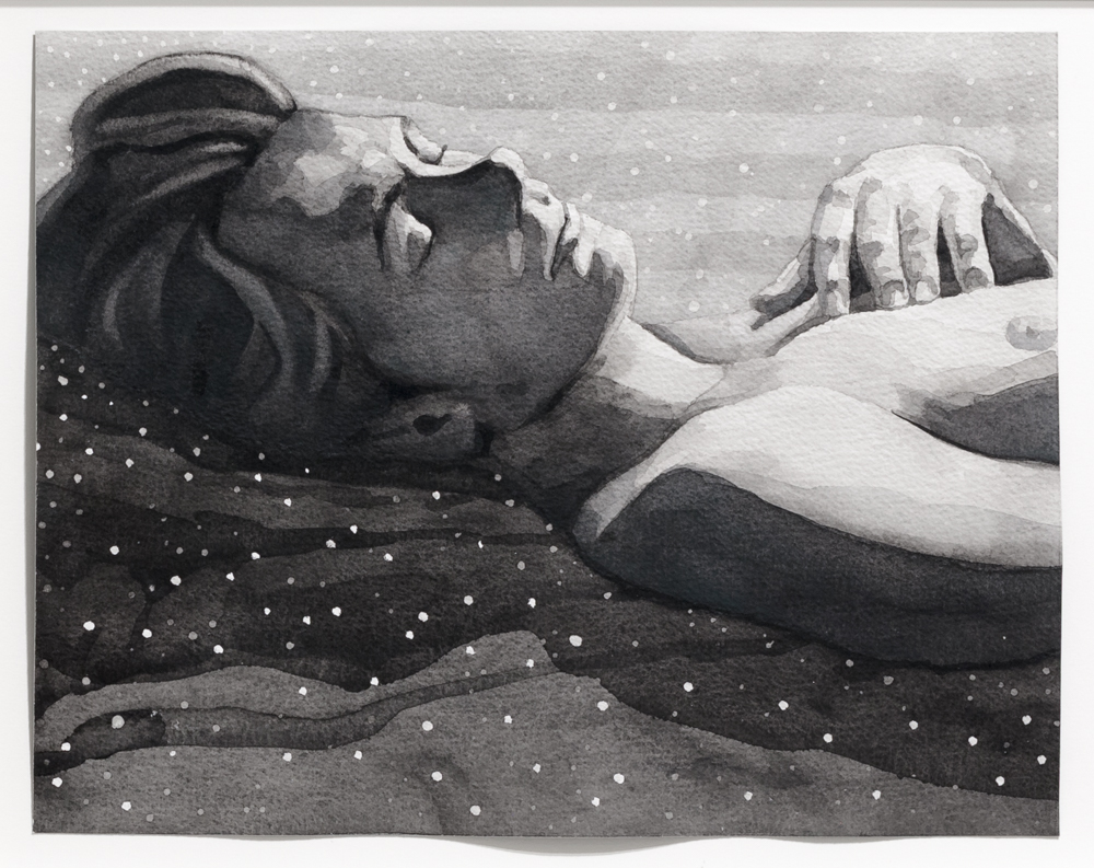 "The Blankets Were the Stars, 2015, watercolour and gouache on arches paper, 9"" x 11.5"" each."