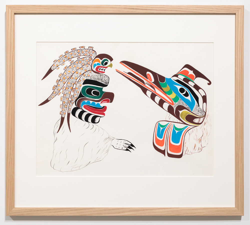 Chief Henry Speck, Octopus & Loon, 1959, guache on paper.
