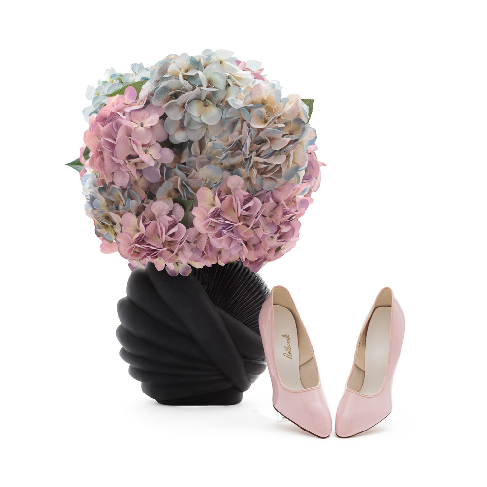 "Vintage Pink Stilettos Size 7.5 | Narrow Women's Vegan Shoes | 1950s Designer Pink High Heels | ""Bellecraft"" | 50s Pumps: Front View 2016 Archival Pigment Print 20 x 20"" One of Five Archival Pigment Prints Maximum Dimensions 20 x 150"""