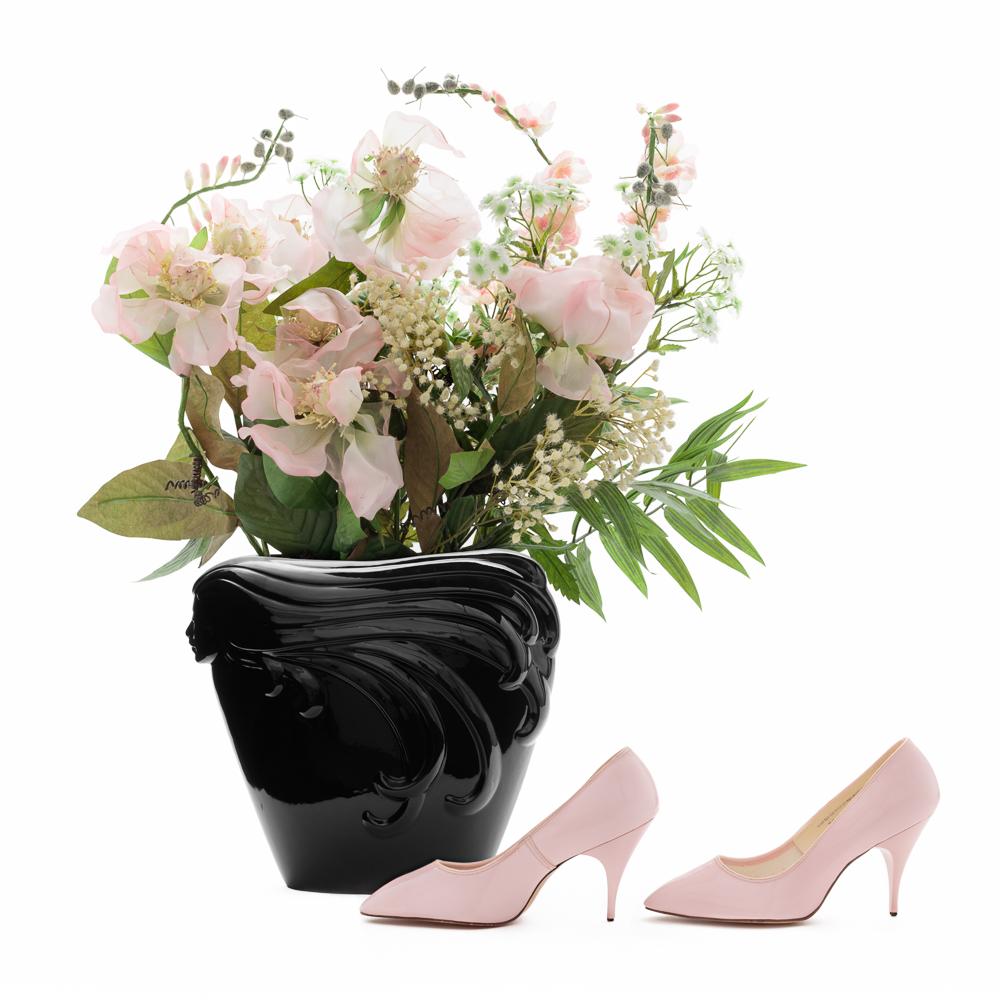 "Vintage Pink Stilettos Size 7.5 | Narrow Women's Vegan Shoes | 1950s Designer Pink High Heels | ""Bellecraft"" | 50s Pumps: Side View, 2016, Archival Pigment Print, 20 x 20"" One of Five Archival Pigment Prints Maximum Dimensions 20 x 150"""