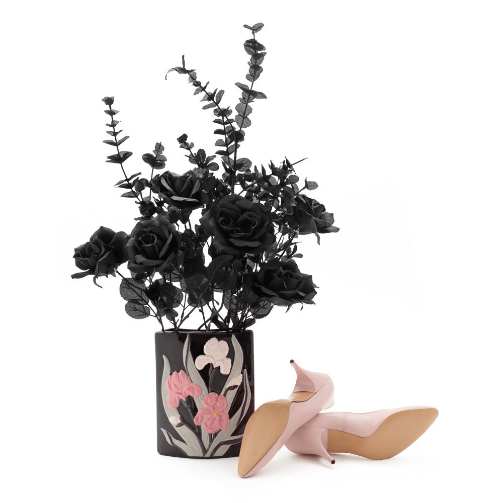 "Vintage Pink Stilettos Size 7.5 | Narrow Women's Vegan Shoes | 1950s Designer Pink High Heels | ""Bellecraft"" | 50s Pumps: Bottom View 2016 Archival Pigment Print 20 x 20"" One of Five Archival Pigment Prints Maximum Dimensions 20 x 150"""